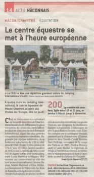 Article Journaux CSIO Macon